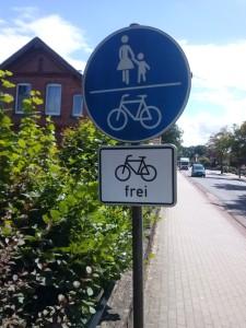 Radweg für Radfahrer freigegeben