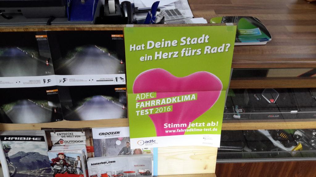 Fahrradklima-Test-Plakat