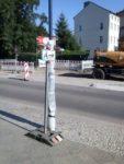Hinweisschild zu Straße
