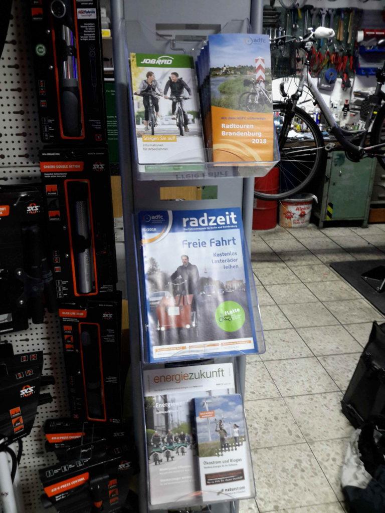 Radzeit und weitere Informationsmaterialien